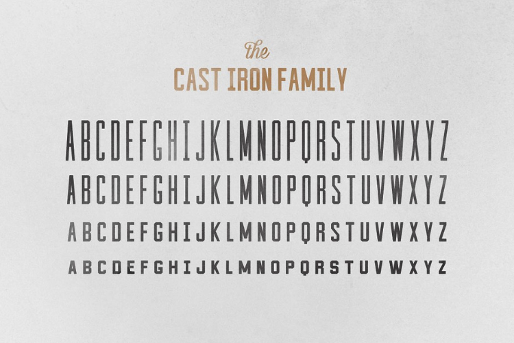 Cast Iron Family - Font example image 3