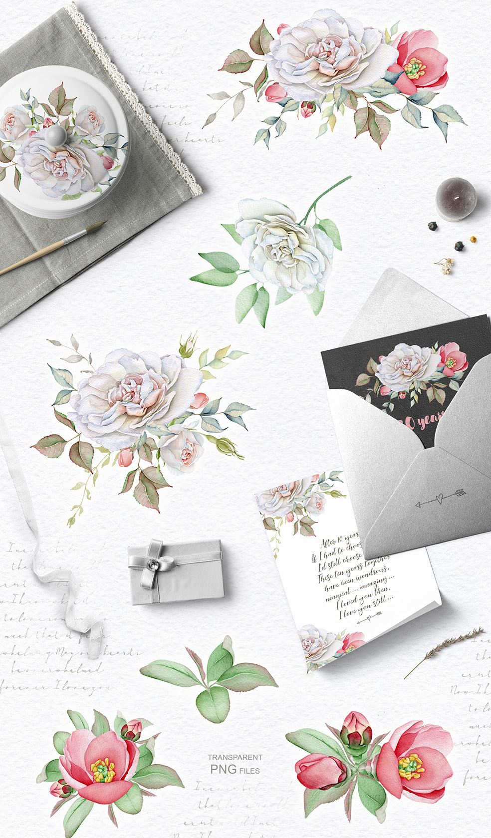 15%OFF. Watercolor Floral Collection example image 5