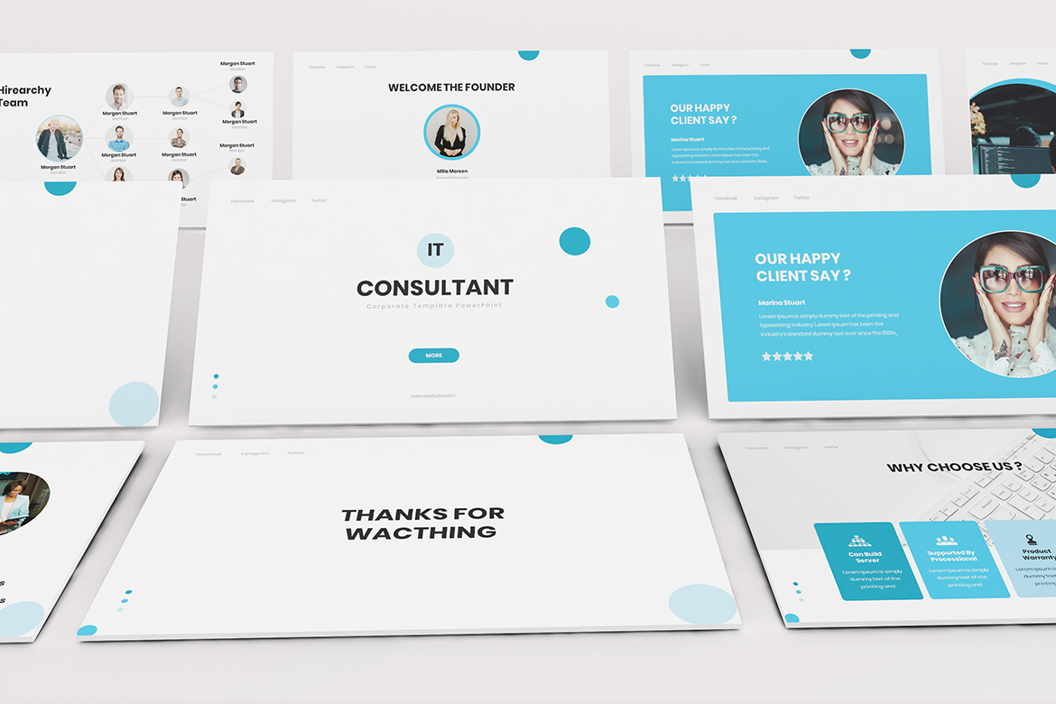 IT Consultant Google Slides Template example image 5