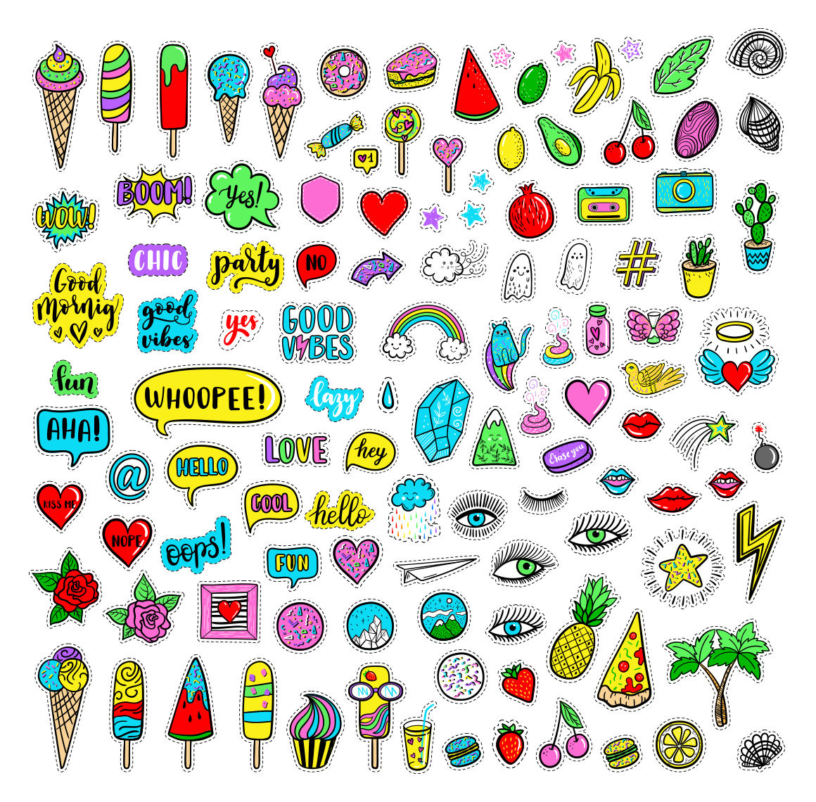 100 Funny patches 27 patterns example image 3
