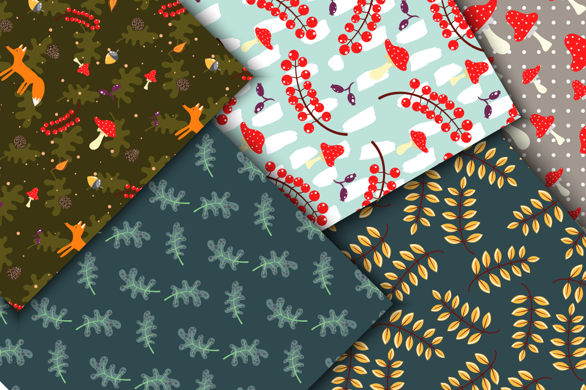 Rustic Fall Seamless Patterns example image 5