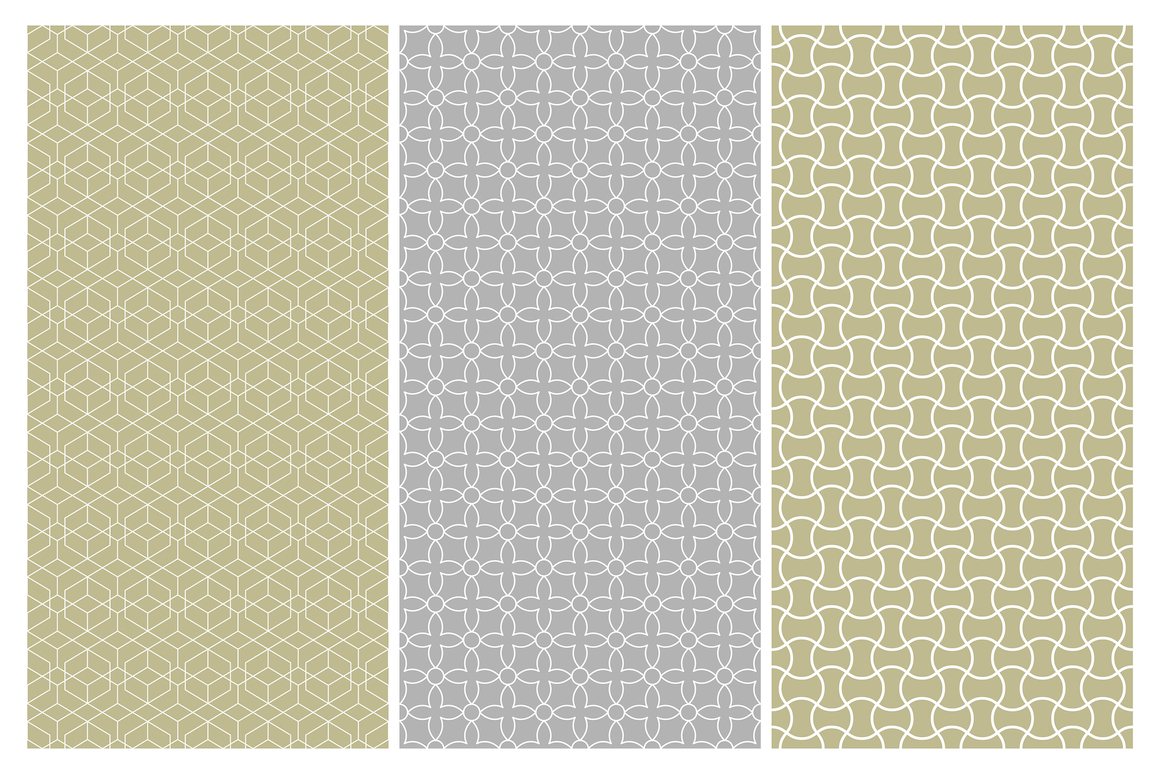Geometric seamless symmetry patterns example image 6