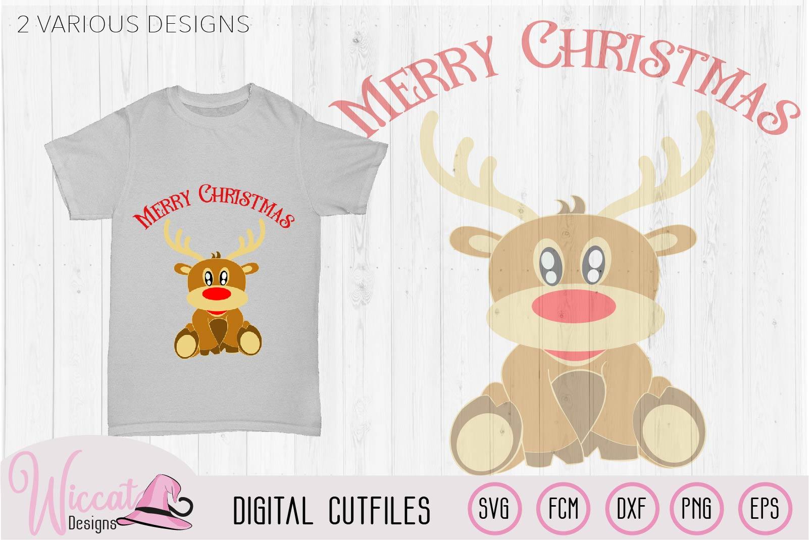 Baby boy reindeer cut files example image 1