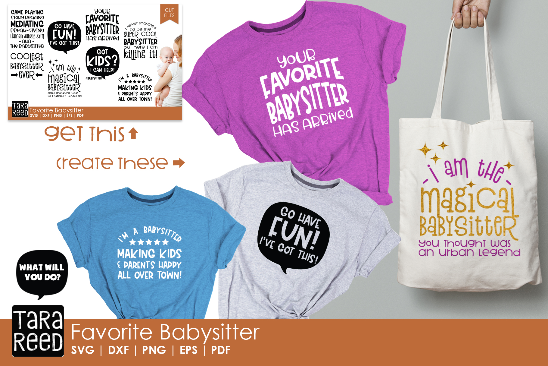 Favorite Babysitter - Babysitting SVG Files for Crafters example image 2