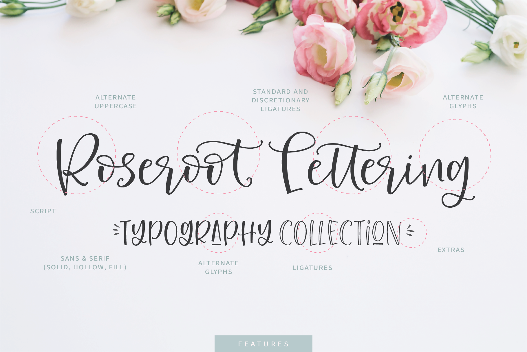 Roseroot Cottage Font Collection example image 3