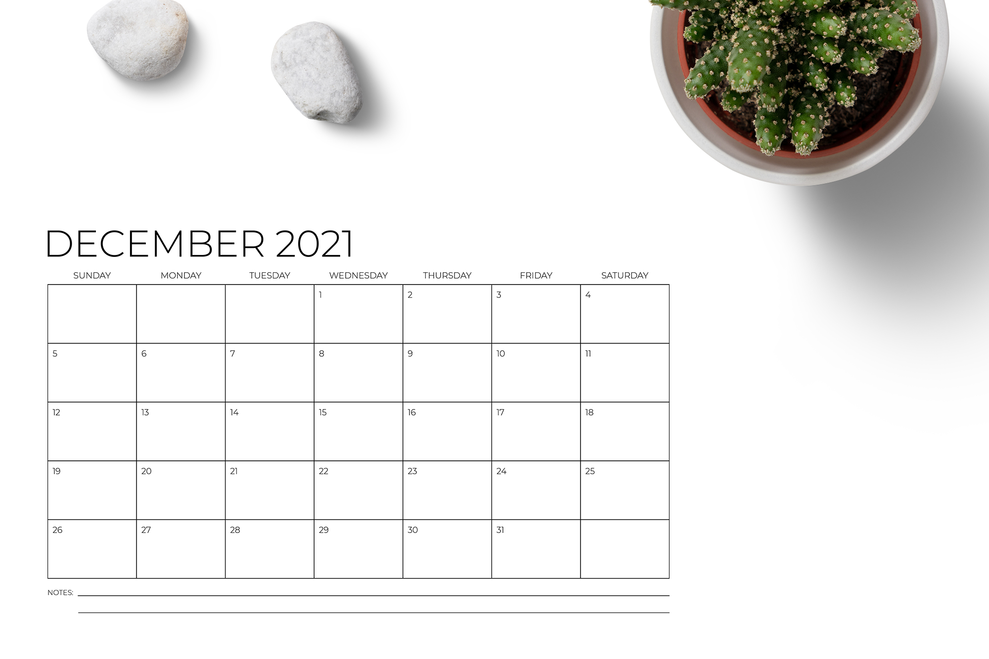 11 x 17 Inch Modern 2021 Calendar example image 5