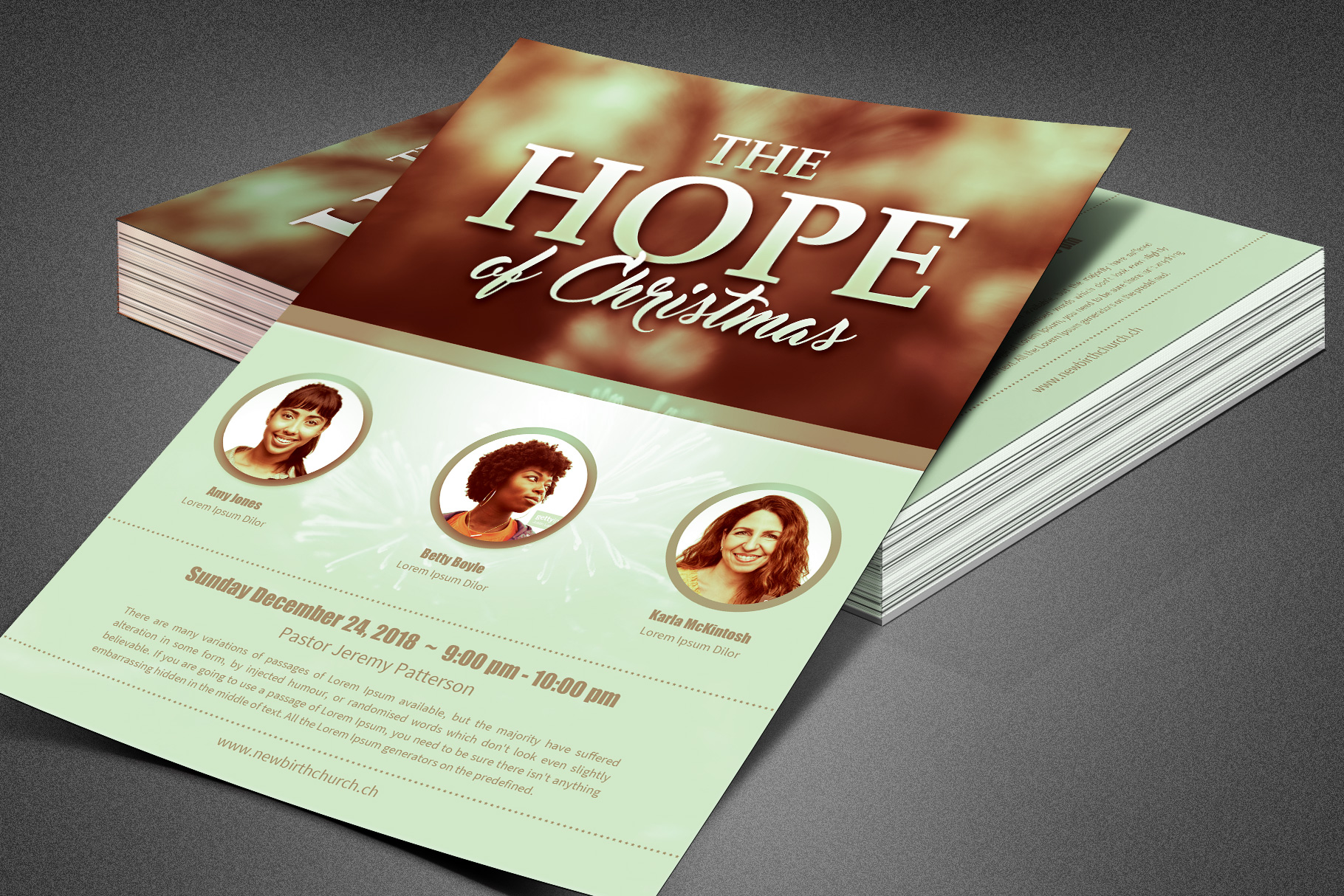 The Hope of Christmas Church Flyer example image 5