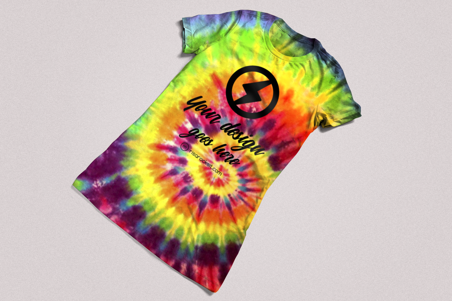 Tie Dye Tee Product Mock Up example image 5