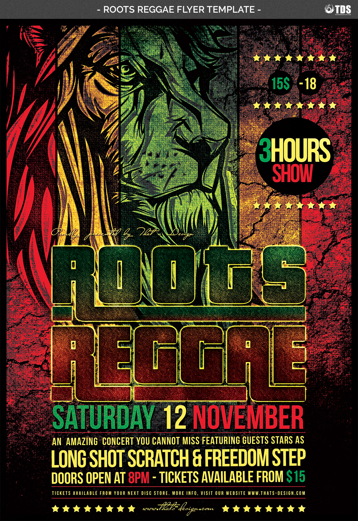 Roots Reggae Flyer Template example image 4