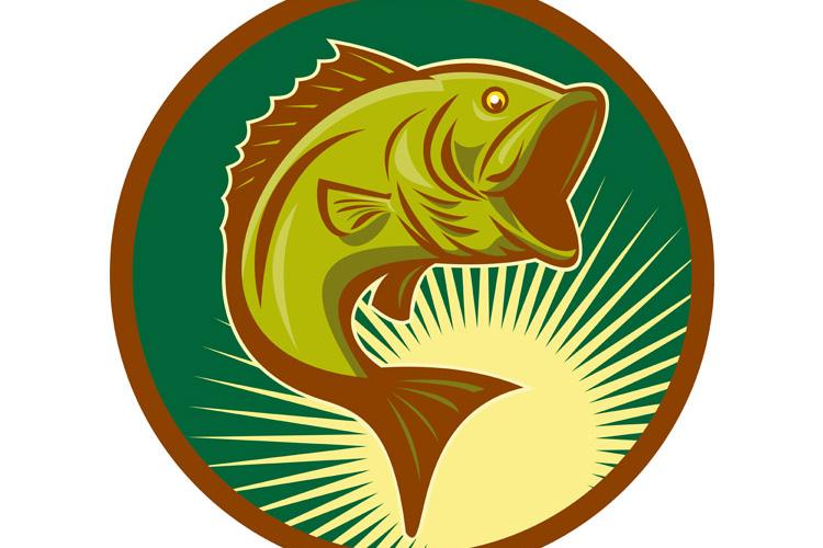 largemouth bass fish jumping example image 1