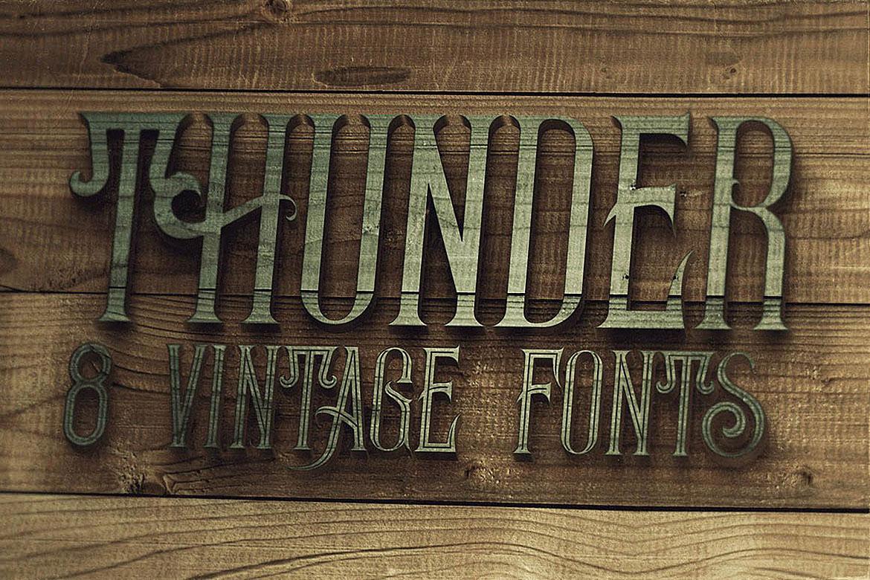 Thunder Typeface example image 5