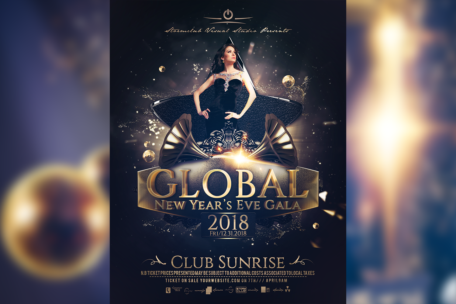 New Years Eve Gala Poster example image 1