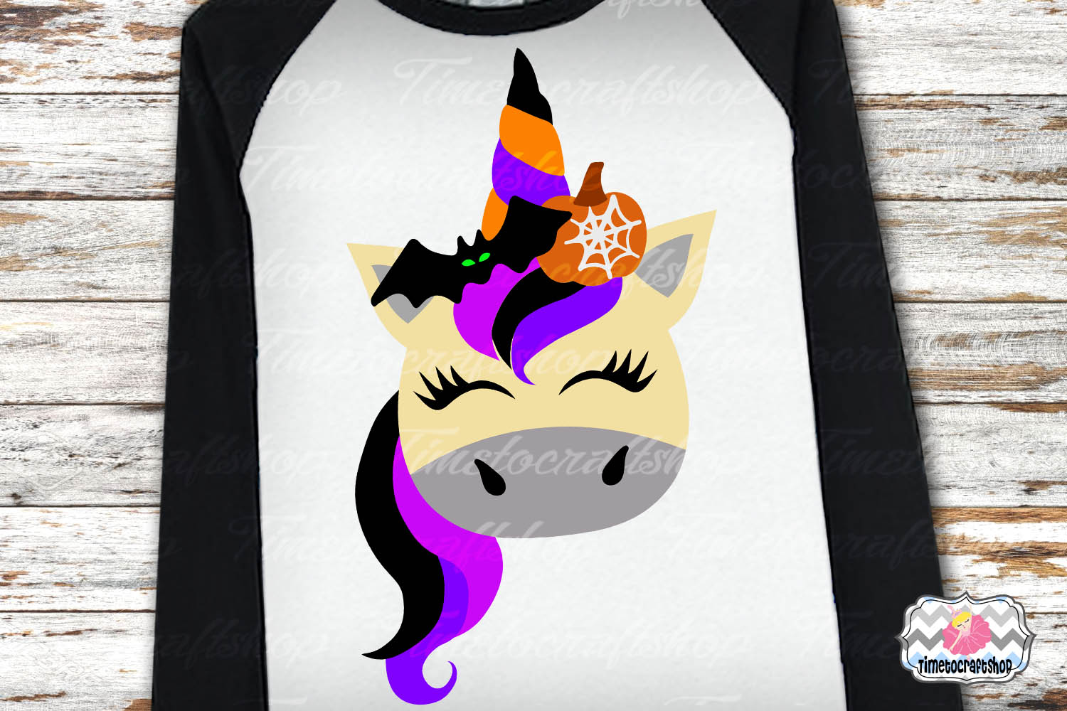 SVG, Eps, Dxf & Png Files For Halloween Unicorn Bundle example image 5