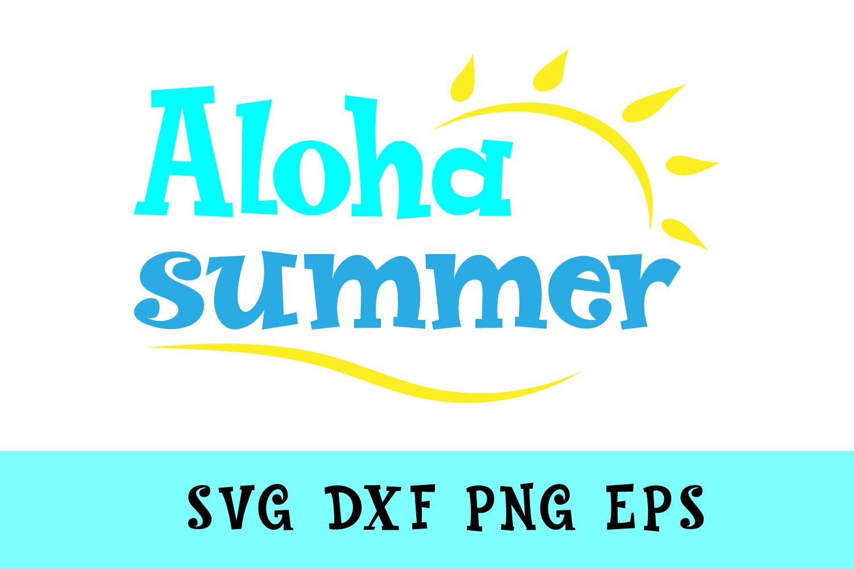 Aloha Summer Svg Dxf Png Jpg Eps example image 1