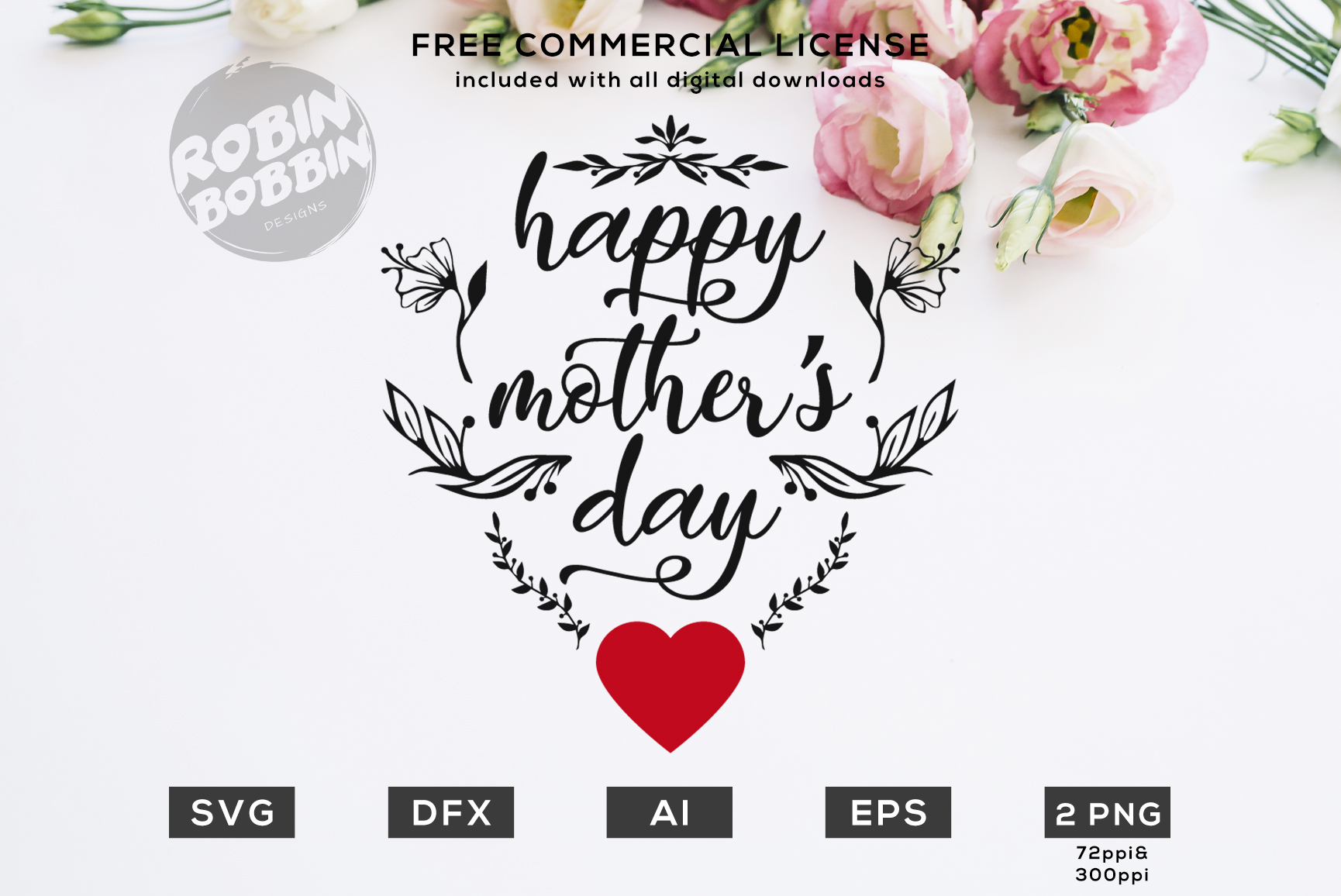 Happy Mother Day - Design for T-Shirt, Hoodies, Mugs example image 1