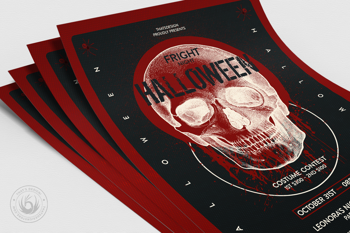 Halloween Flyer Template V25 example image 5