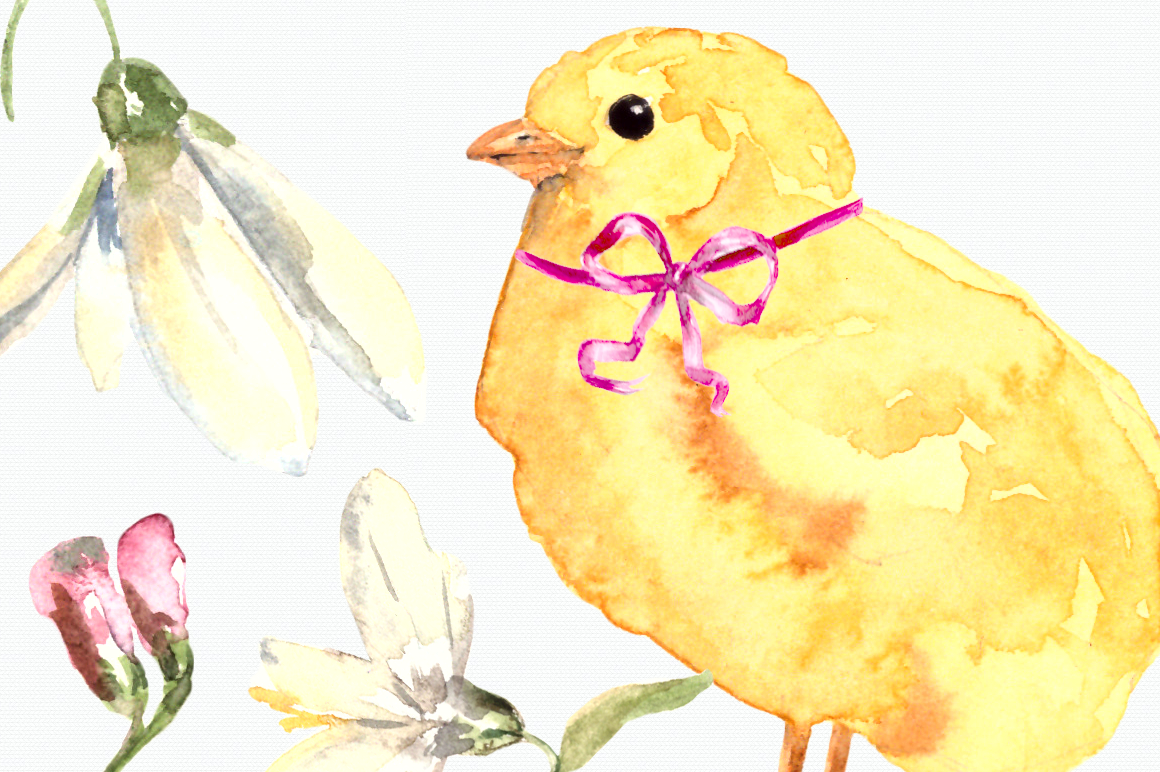 Watercolor Easter Card and Clip Arts example image 3