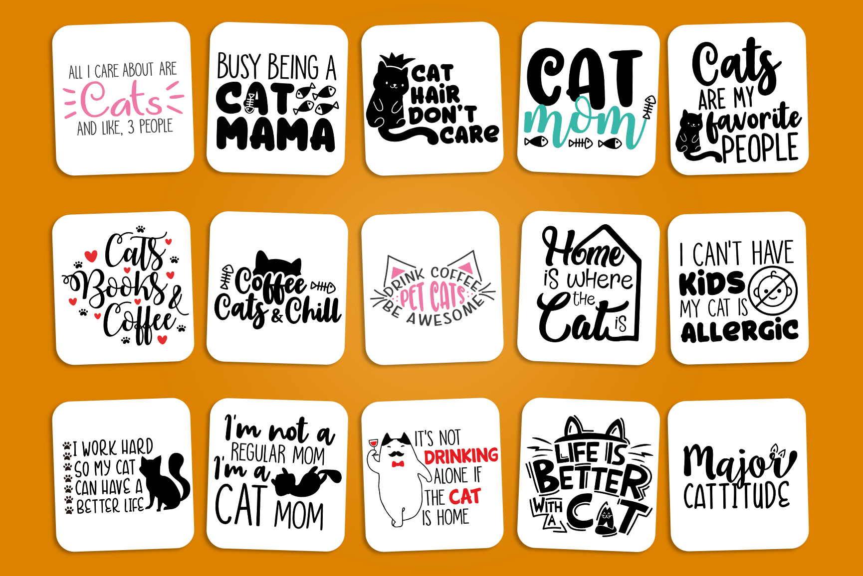 Cats SVG Bundle - Cat Quotes Bundle example image 2