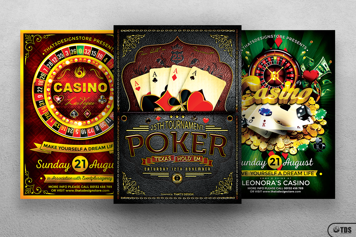 Poker and Casino Flyer Bundle example image 2