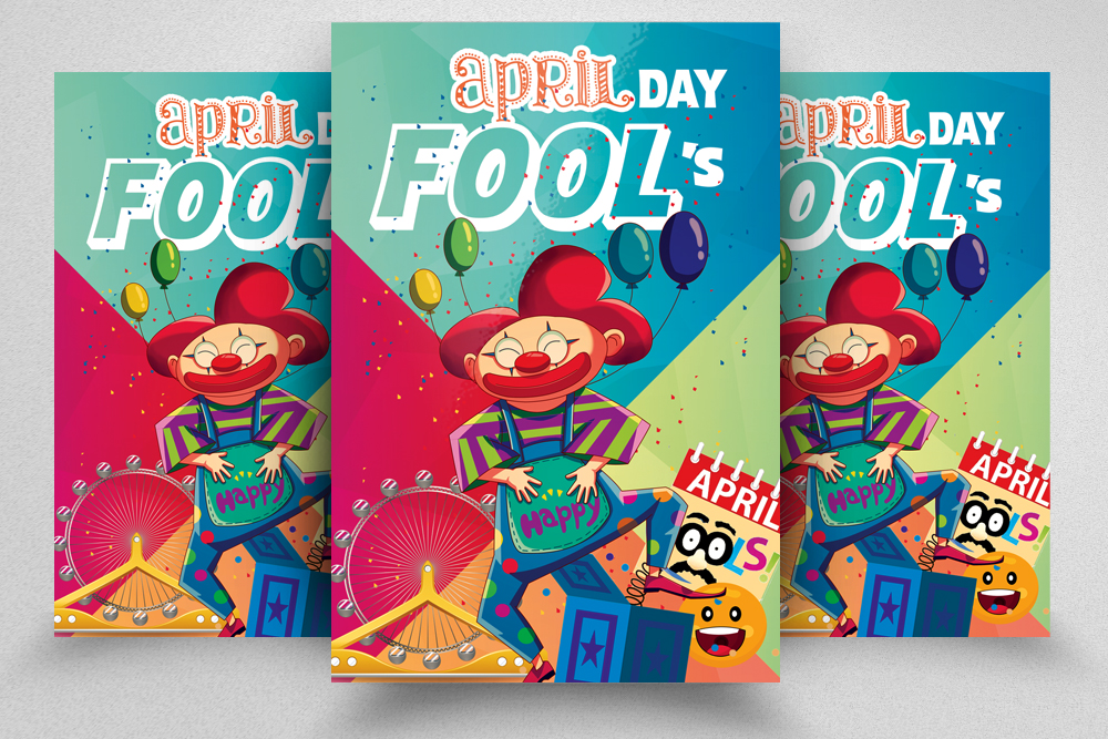 4 April's Fool Day Flyers Bundle example image 2