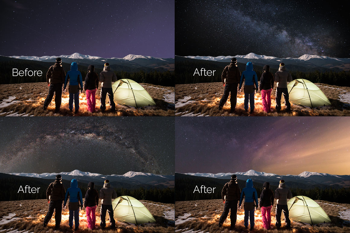 52 Starry Sky Photoshop Overlays example image 5