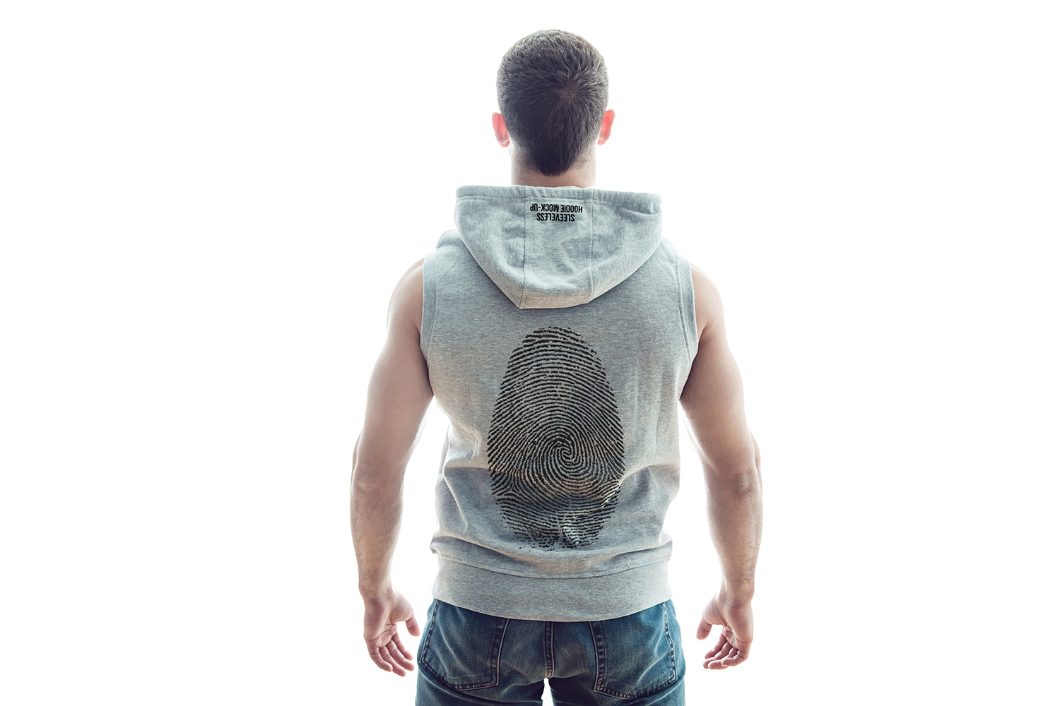 Sleeveless Hoodie Mock-Up example image 9
