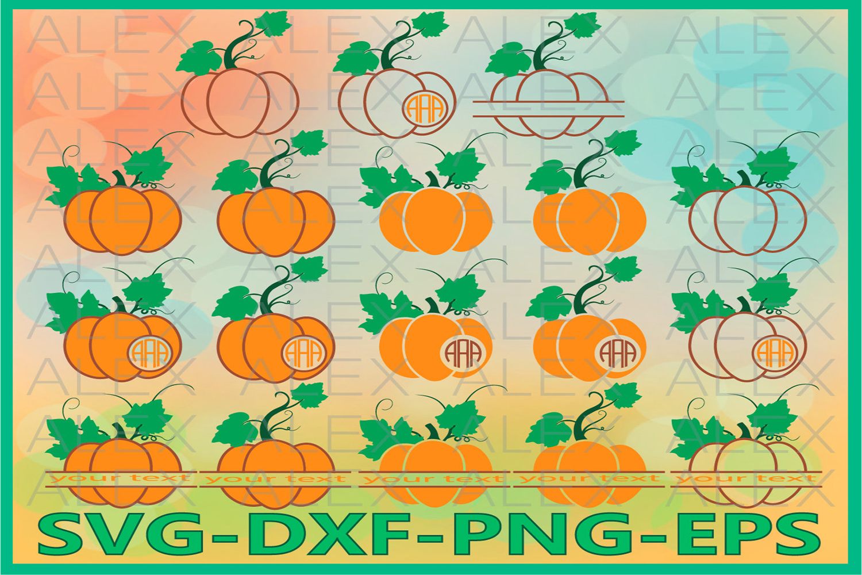 Halloween Pumpkin SVG, Pumpkin SVG, Pumpkin Monogram Svg example image 1