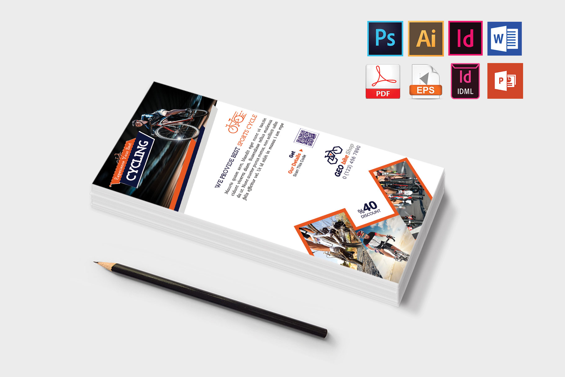 Rack Card | Cycle Shop DL Flyer Vol-01 example image 3