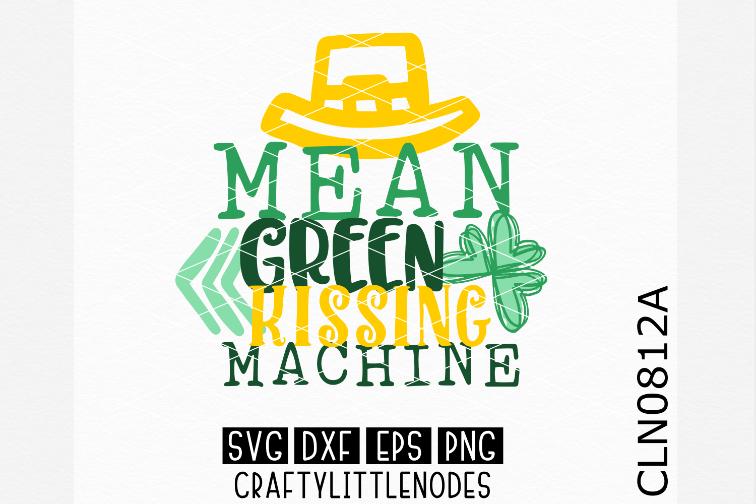 Mean Green Kissing Machine SVG example image 1