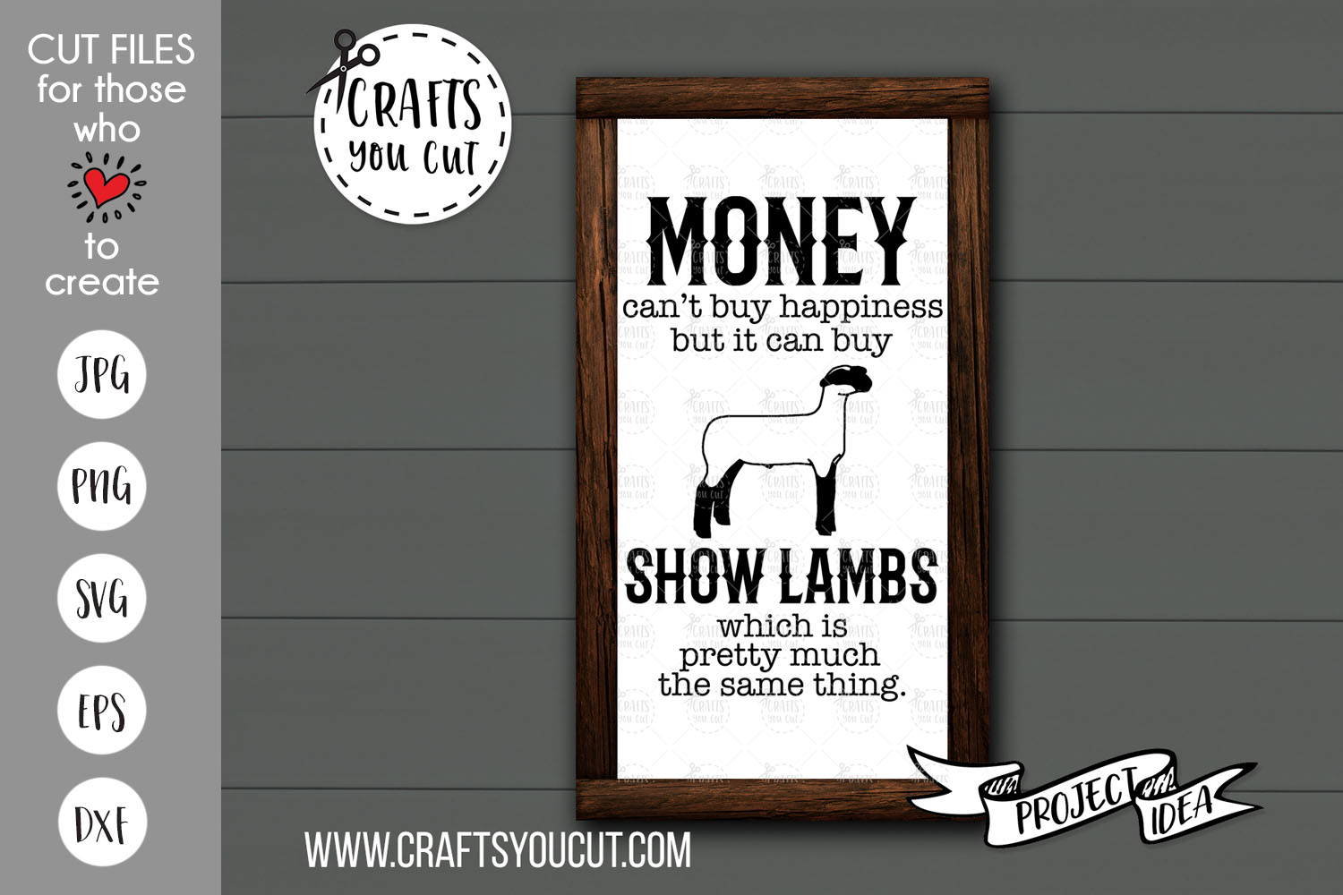 Money Can't Buy Happiness But It Can Buy Show Lambs- SVG example image 1