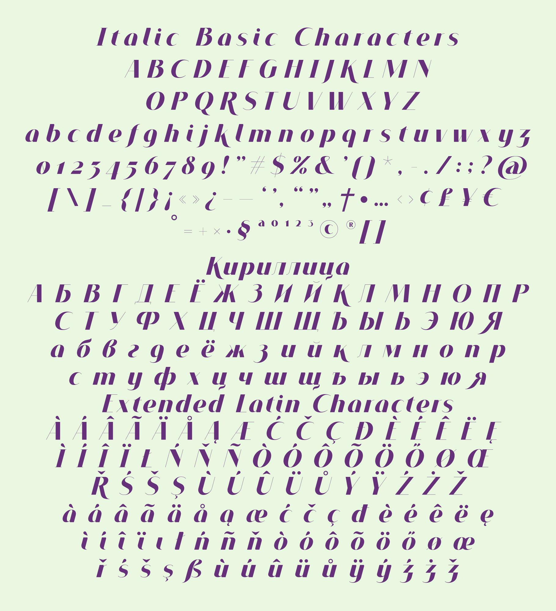 VOGUER Sans Italic example image 4