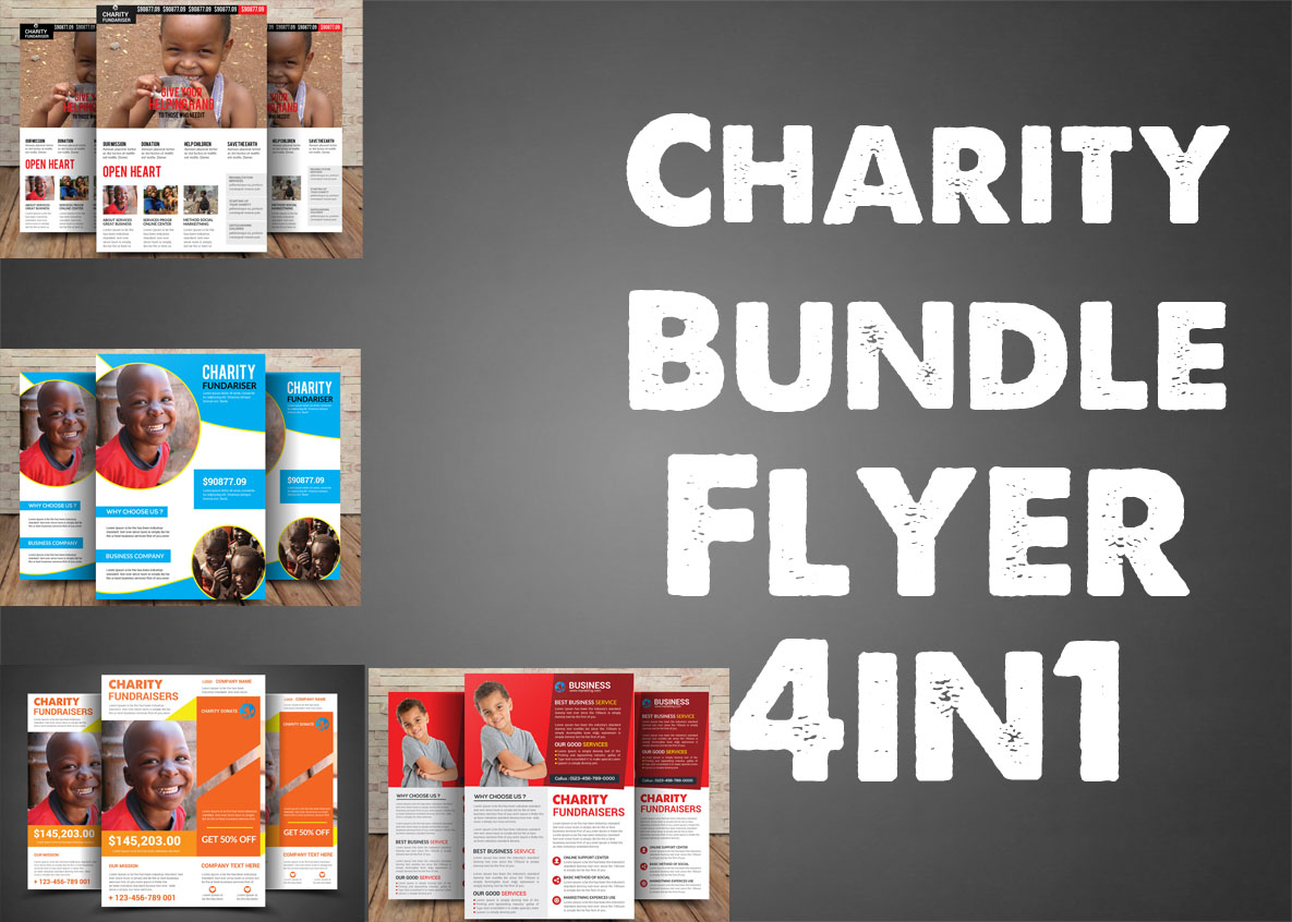 Charity Bundle Flyer 4in1 example image 1
