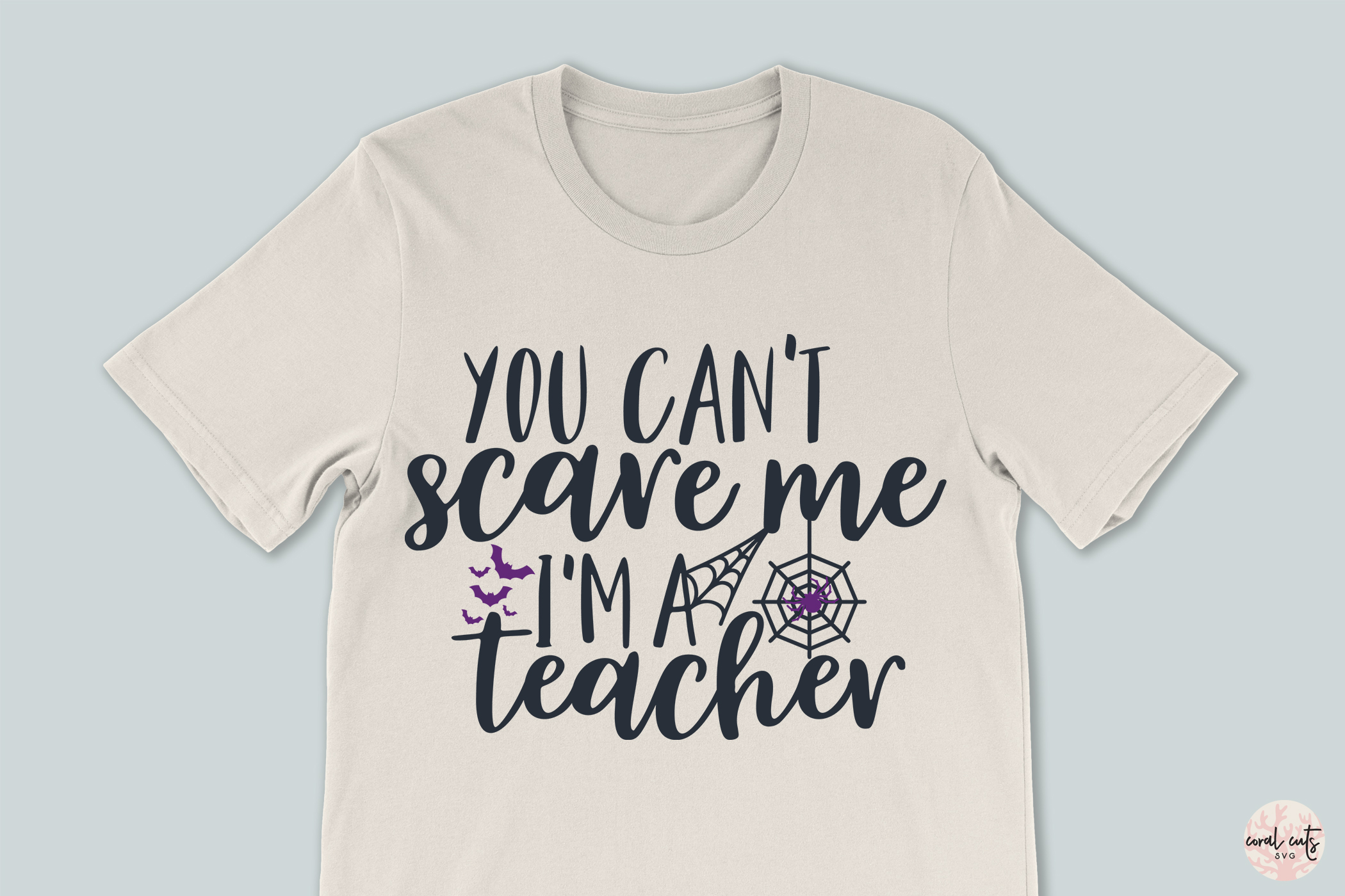 You Cant Scare Me I'M Teacher - Halloween SVG EPS DXF PNG example image 3