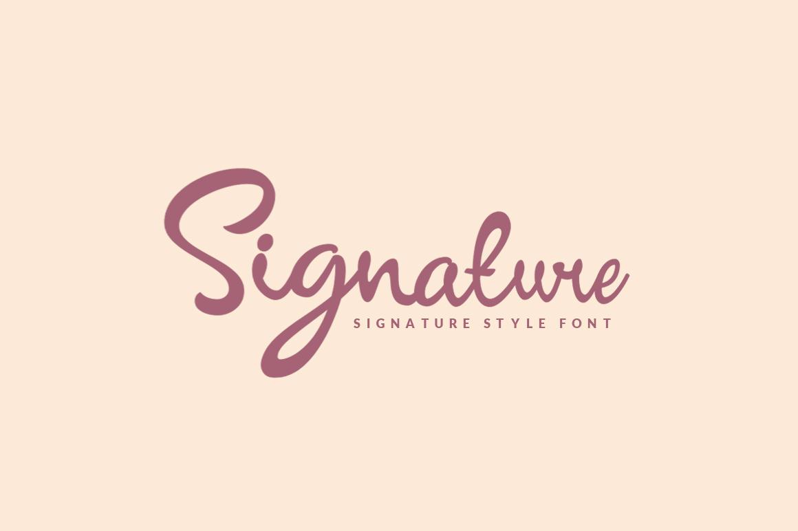 Signature - Script example image 1