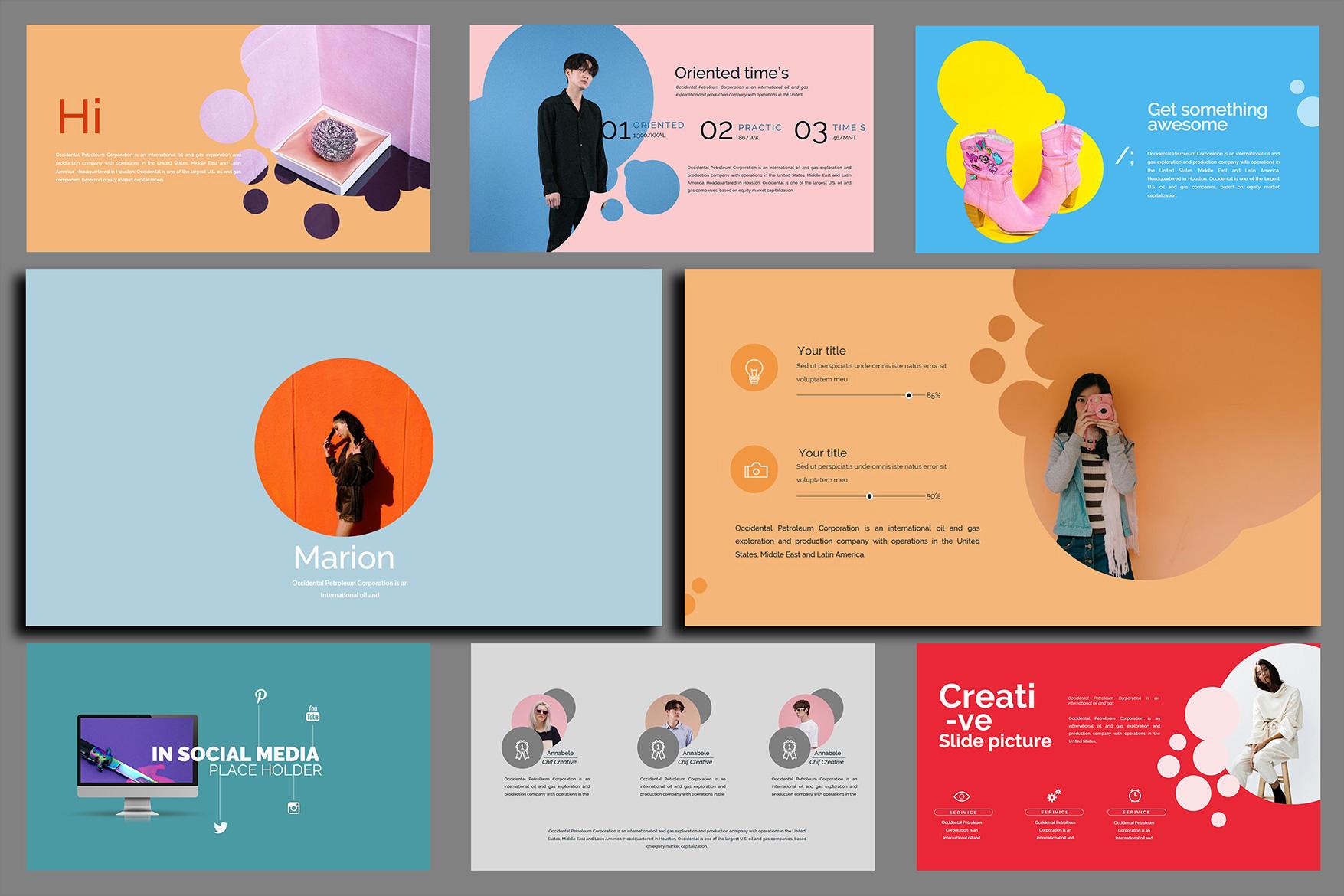 Velvety Fashion Google Slides Presentation example image 4
