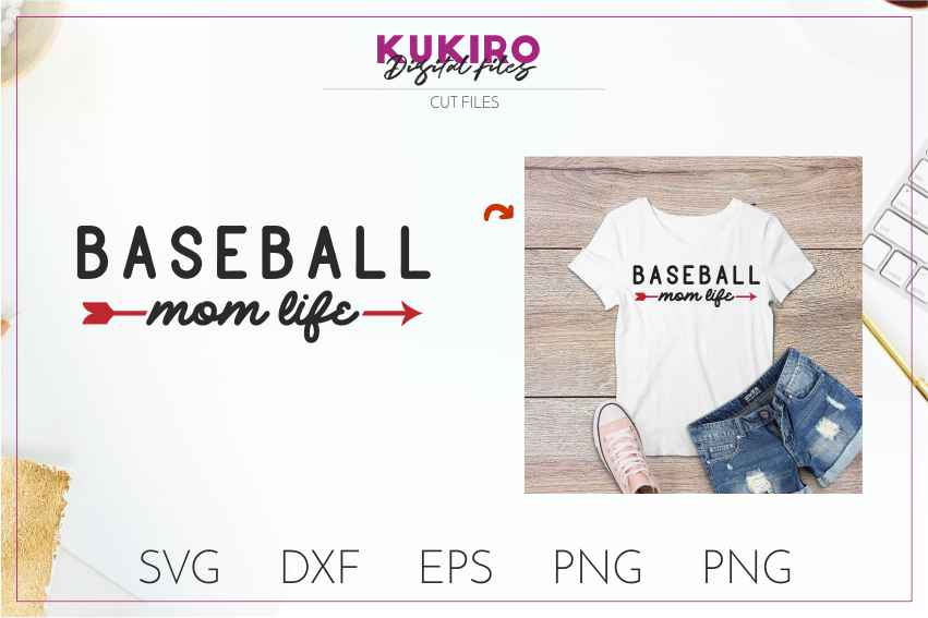 Baseball SVG BUNDLE Cut files SVG DXF EPS PNG Baseball Mom example image 2