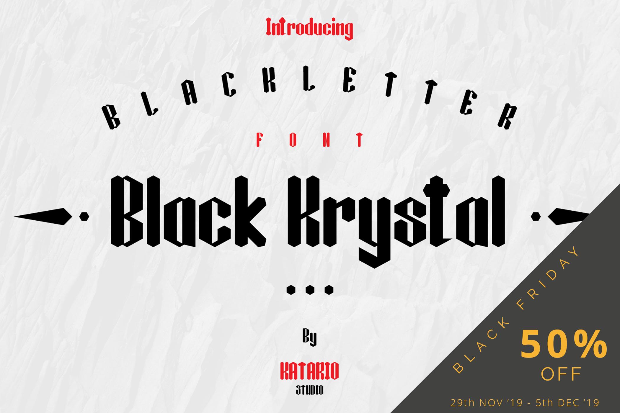 Black Krystal Font example image 7