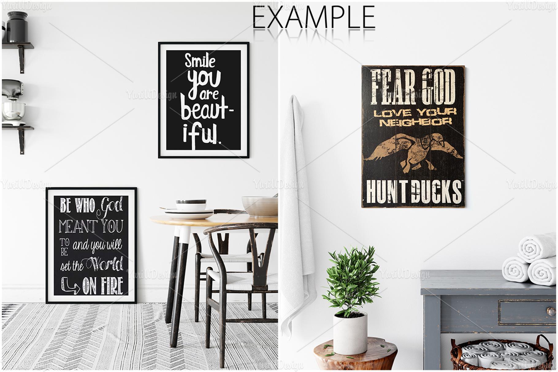 Scandinavian Interior Frames & Walls Mockup Bundle - 3 example image 18