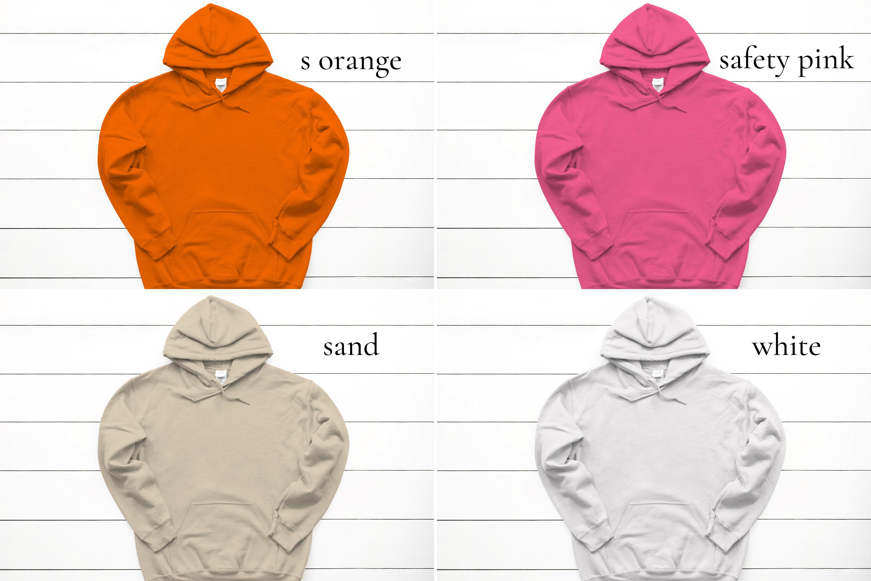 Hoodie Mockup Bundle Gildan 18500 Basic hoodie mockups example image 9