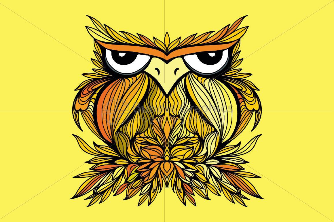 Owl - Creative Bird Graphic example image 1