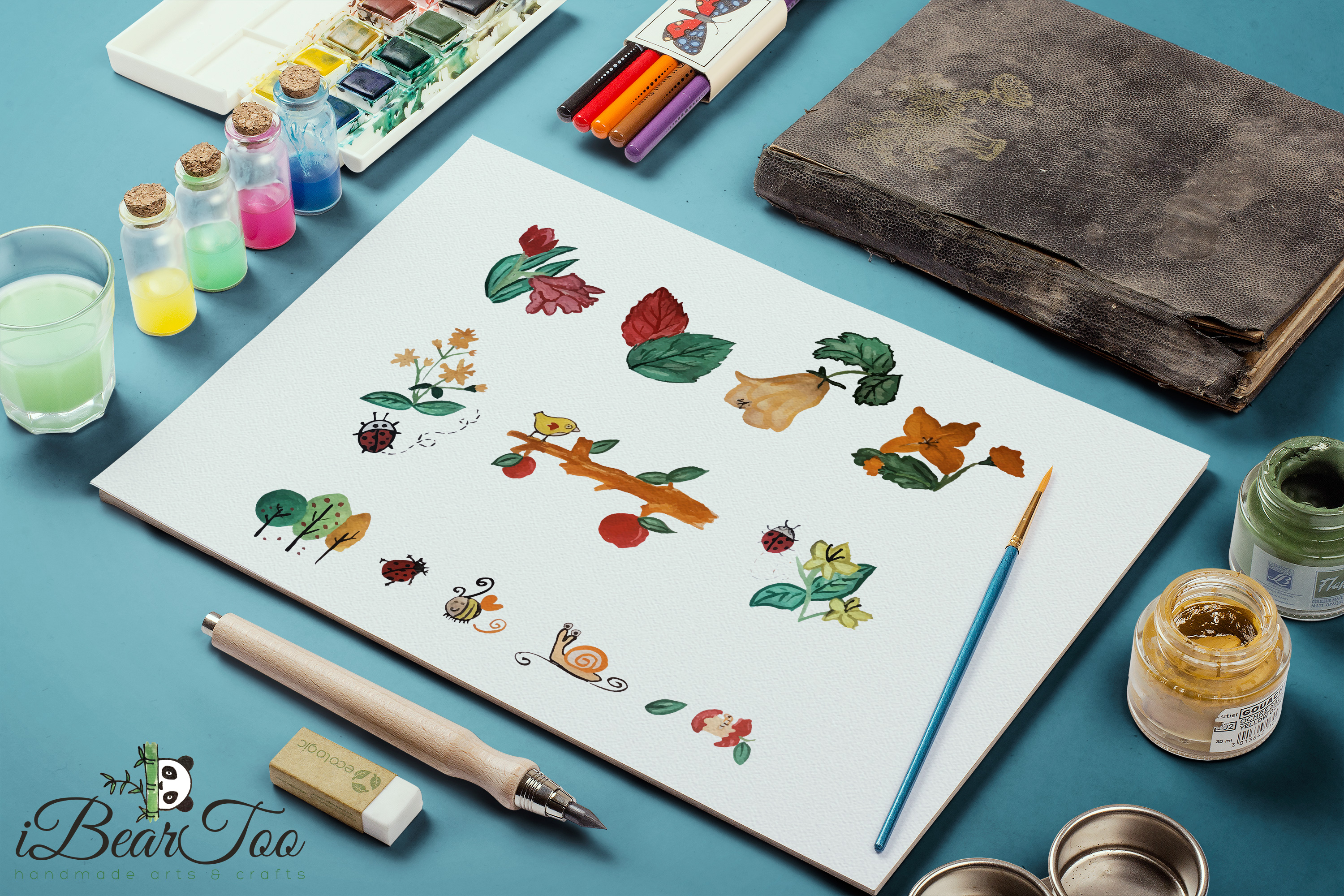 Nature SVG Bundle Watercolor Clipart Drawing Vector Cutfiles example image 10