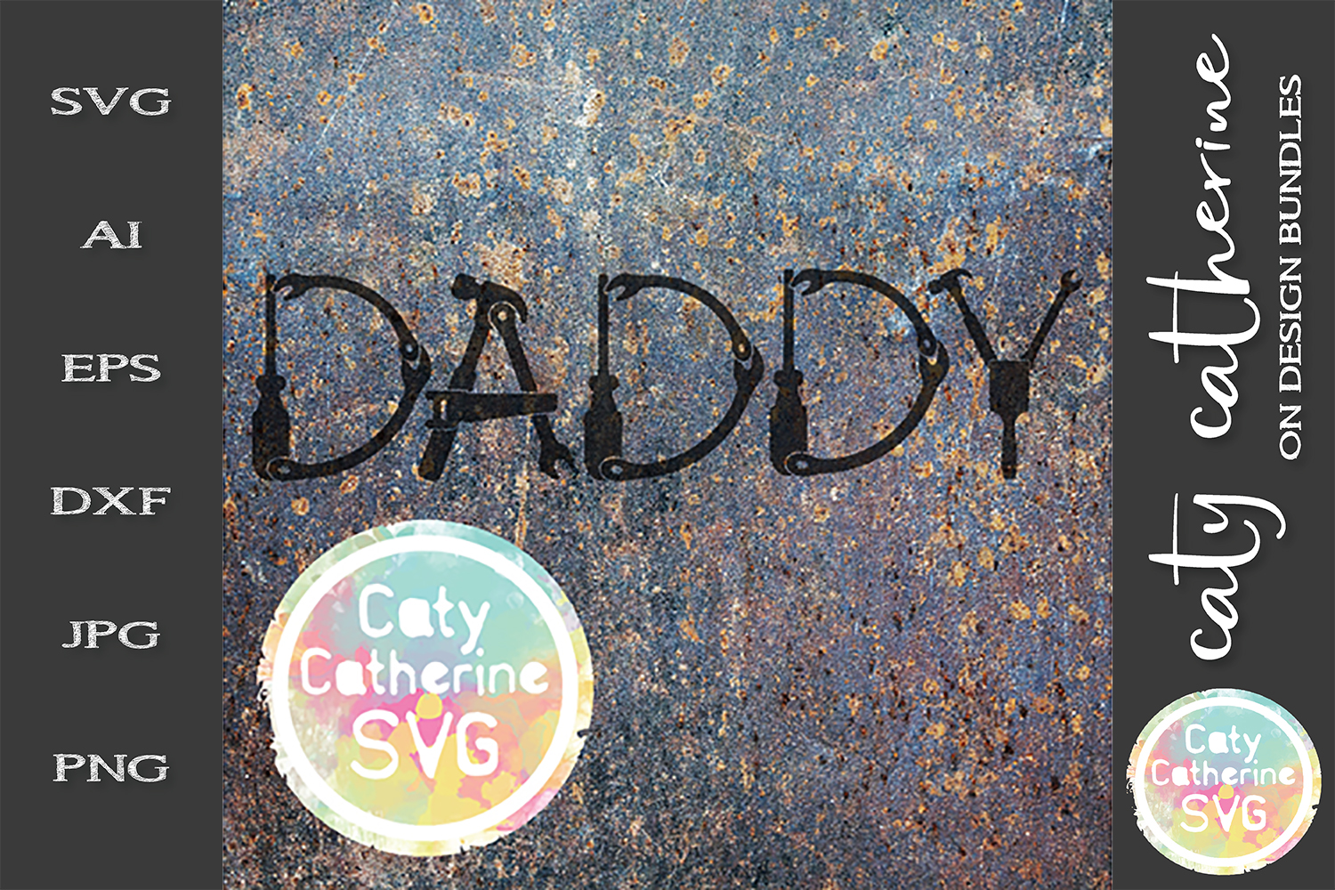 Daddy Father's Day Tool Theme SVG Cut File example image 1