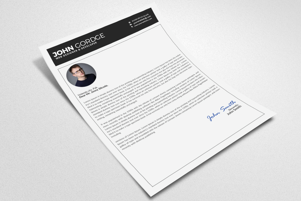 Resume Cv Office Template example image 3
