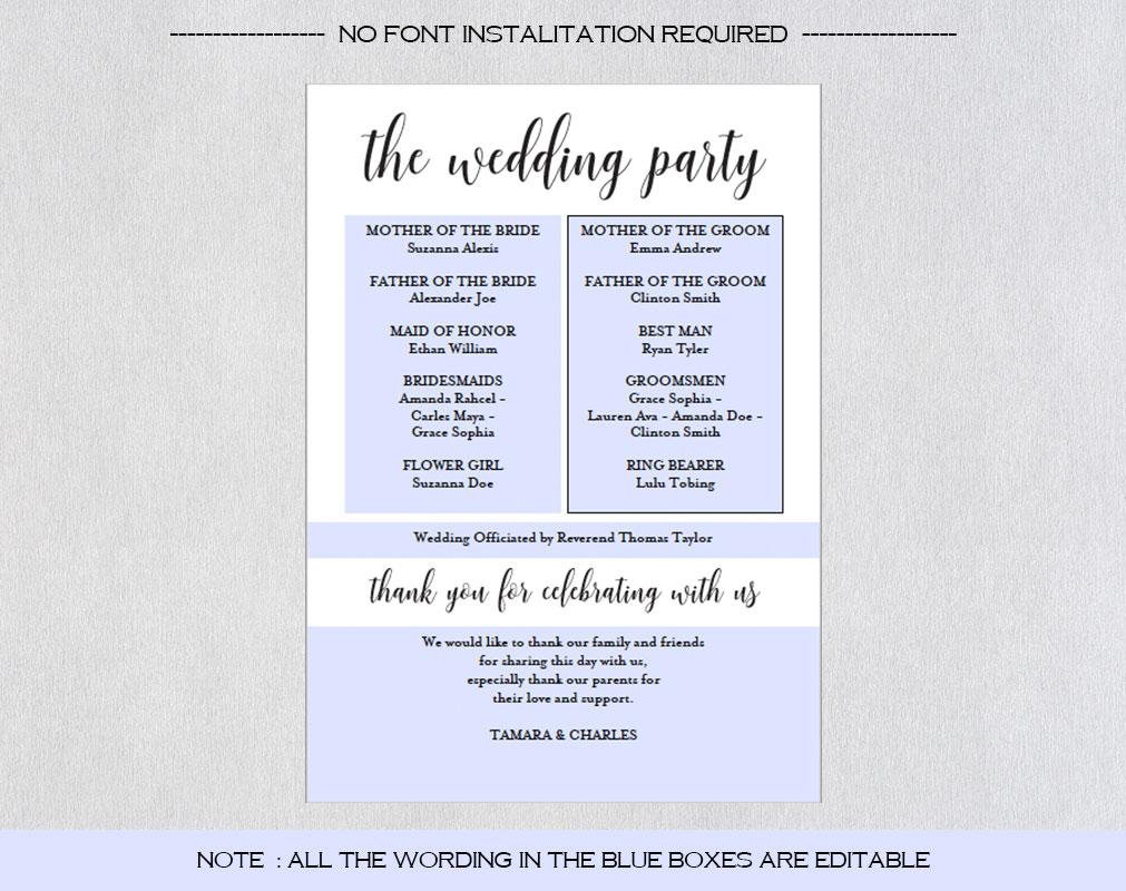 Wedding program fan example image 5