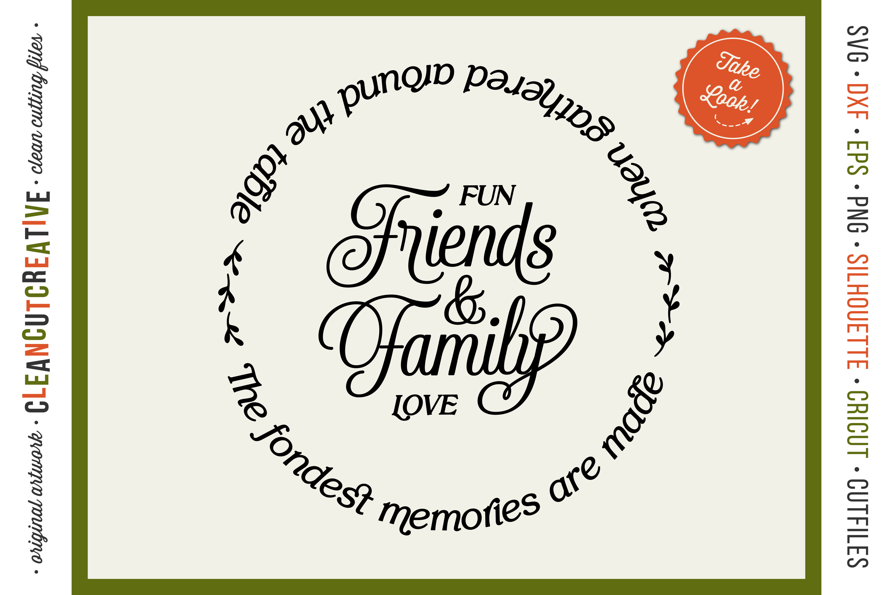 Friends & Family Fondest Memories Gathered Table - round svg example image 1