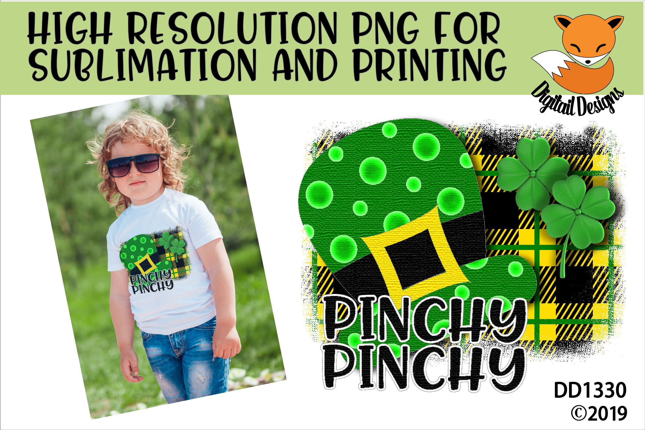 St Patrick's Day Irish Funny Pinchy Sublimation Printable example image 1