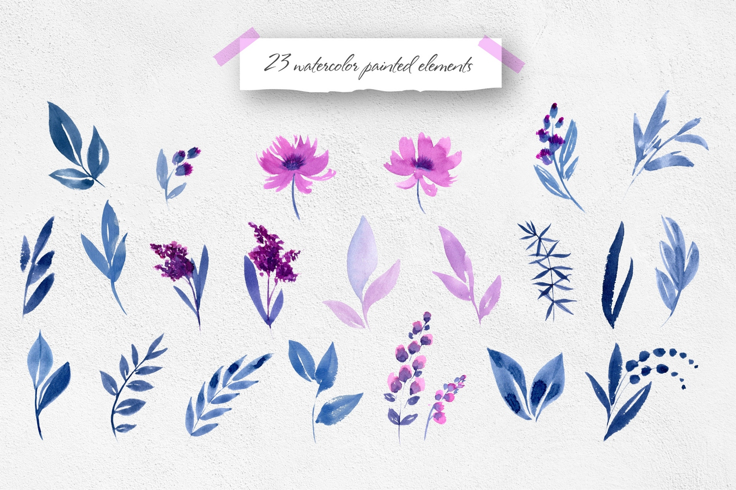 Purple Dreams - Flower Graphic Set example image 3