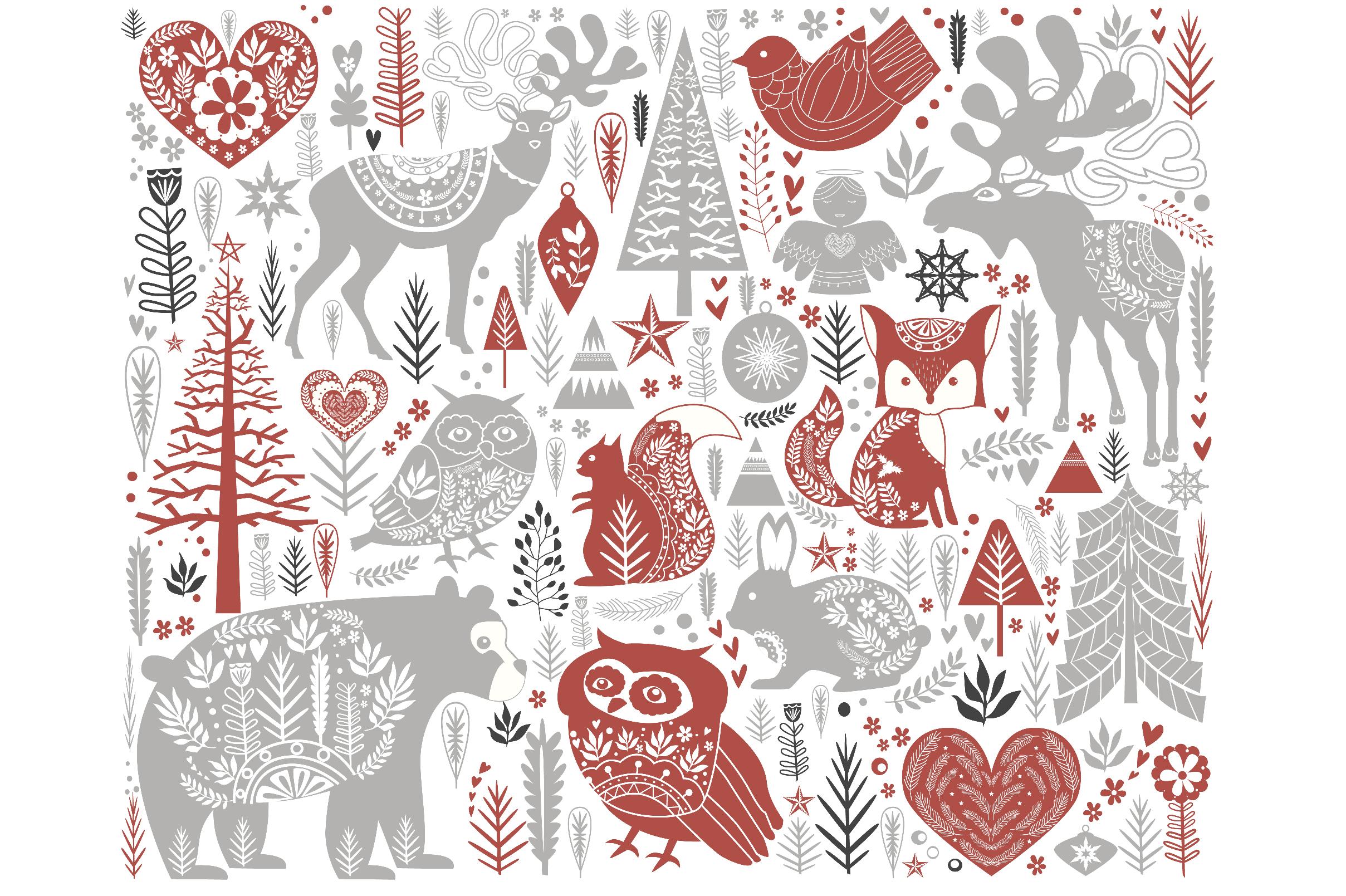 Scandinavian Christmas set example image 2