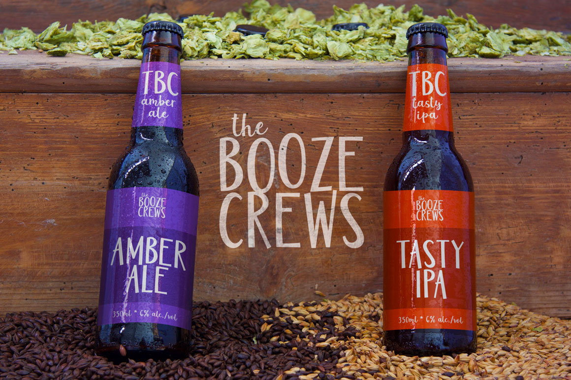 Jumbuck Sans: beer bottle branding mockup