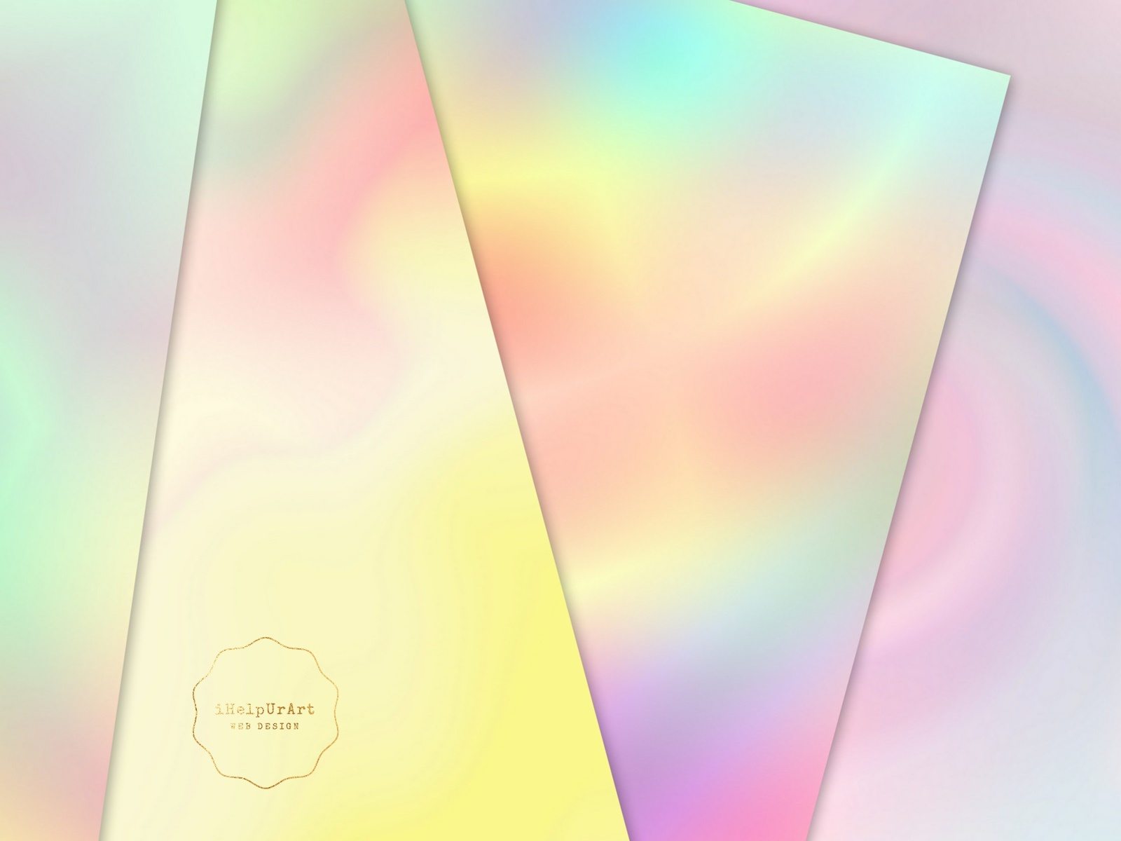 Pastel Rainbow Papers - Holographic Digital Paper example image 4